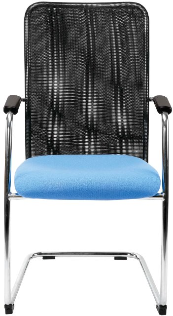 Montana Executive Meeting Chair with Blue Seat
