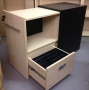 FAB Under Desk Organiser in Maple with Black Carcass